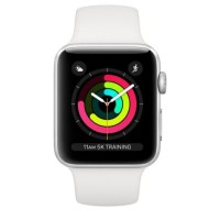 Apple Watch Series 3 Gps 38Mm Silver Alumunium With White Sport Band