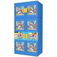 Lemari Gantung Baju Plastik Naiba Doraemon Boneka Timbul/3D Mm