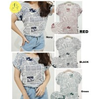 Kaos Wanita / Kaos Cewek / T-Shirt Wanita / T-Shirt Cewek Print Koran