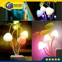 Lampu Tidur Jamur Avatar Sensor Cahaya Led