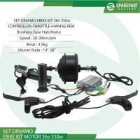 Set Ebike Kit Dinamo motor bldc 36v 350w sepeda listrik jeruji 36hole