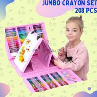 Crayon Anak Set Isi 208 Pcs Pensil Warna Alat Lukis Set Crayon Set