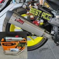 knalpot racing daytona aerox - nmax new all new nmax nmax 2020