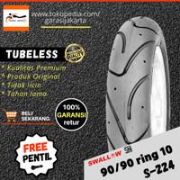 BAN LUAR MOTOR SWALLOW 90/90-10 RING 10 TUBLES TUBELESS TUBBLES MATIC