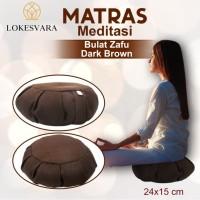 Matras/Bantal/Alas Meditasi (Bantal Doa/Duduk) Bulat Zafu Dark Brown