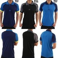 Polo Shirt Olahraga Kerah Import Grade Ori Adidas P02 Hitam