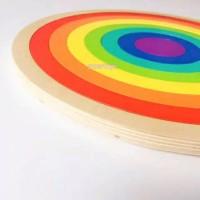 Mainan montessori Full Rainbow wooden Puzzle toys Pelangi Kayu