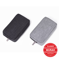 Pouch Tas Dompet Handphone - Charger - Power Bank - Kabel Usb Travel
