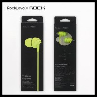 Rock Lava Y1 - Iem / Earphone With Mic - Hitam