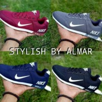 Terlaris Sepatu Nike Neo Cewek Cowok Hitam Merah Abu Biru Dongker