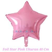 Balon Foil Star Pink Soft / Balon Foil Star / Balon Bintang