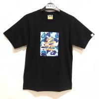 Bape X ASSC ABC CAMO BOX T-shirt Black Blue 100% Original