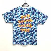 Bape X ASSC ABC CAMO T-shirt Blue 100% Original
