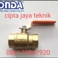 ball valve kuningan onda 1 1/2 inch