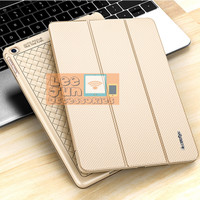 iPad Air 2 Luxury KAKUSIGA Carbon 3 Fold Smart Flip Cover/Case - GOLD