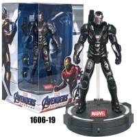 ZD Toys Avengers Endgame War Machine Deluxe 7 Action Figure stand LED