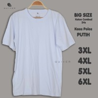 Kaos Pria Polos Putih Jumbo Big Size XXL 3XL 4XL 5XL 6XL Quiver