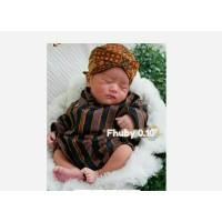 Surjan Lurik Anak Bayi 1-4Bulan / Baju+Blangkon /Surjan Lurik New Born