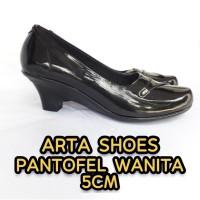 SEPATU PANTOFEL WANITA ARTA SHOES - Hitam, 39