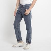 311 Celana Panjang Jeans Pria Selvedge Straight Fit Snow Blue