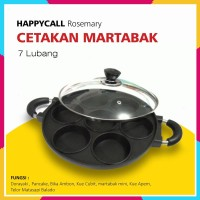 Cetakan Martabak Mini Kue Lumpur 7 Lubang Datar Happy Call Ultimate