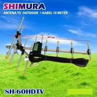 SINTE Antena TV OUTDOOR DIGITAL DVB HDTV TNT Anten Luar SHIMURA SH60HD