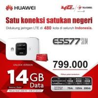 Mifi Modem Wifi Router 4G Huawei E5577 Telkomsel Unlock Free 14Gb