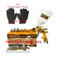 Spray Gun HVLP Semprotan Angin Cat INGCO TABUNG ATAS 600CC HVLP INGCO