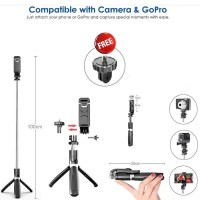 Tongsis Bluetooth 2 in 1 Tripod With Remote For Phone And Action Cam
