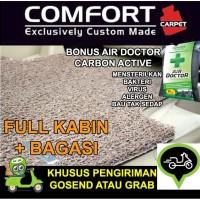 Karpet Mobil COMFORT Honda Brio / Brio Satya 2baris bagasi Deluxe