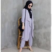 READY New Baju wanita cewe muslim hijab remaja kuliah kerja kondangan