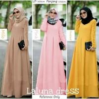 Sale Laluna Dress / Gamis Muslimah / Baju Muslim / Bumil Hamil Tbk