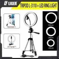 RING LIGHT LED 20 cm/26 cm/33c mTRIPOD 3110 SELFIE MAKE UP LIVE TIKTOK