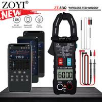 Zoyi ZT-5BQ Tang Amper AC Current 600A Bluetooth Pengukur Arus Listrik