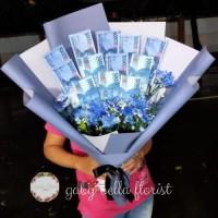 Buket Uang - HB011 Buket Bunga wisuda Bunga Besar Bunga Fresh