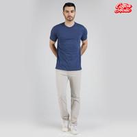 Kaos Polos Tshirt Pocket Navy Misty - S