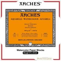 Kertas Cat Air Arches Rough 31x41cm Watercolor Paper Blocks