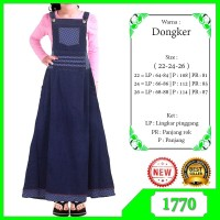 Gamis Overall Jeans Anak / Gamis Jeans / Dress Jumpsuit