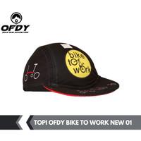 topi sepeda cycling cap OFDY BIKE WORK 03 - BTW SEPEDA