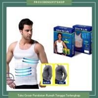 Slim N Lift Slimming Shirt Kaos Dalam Singlet Pelangsing Perut pria