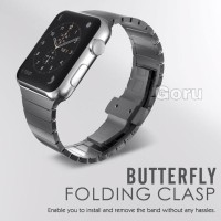Strap apple watch iwatch 6 5 4 3 2 1 stainless steel milanese 42 44 mm