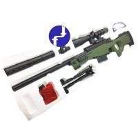 Mainan Anak Tembak Sniper Magnum AWP Water Bullet Gun + Kaca Mata PUBG