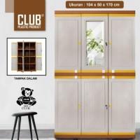 Lemari Plastik Club Pintu 3(Mega Grand Lc-M01 Kopisangjyu