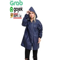 Jas hujan jaket anti air UNISEX dewasa atasan polos GRC - 8046 NEW