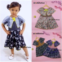 Dress Irene size 3-4 Tahun / Dres Batik Cape Anak Perempuan Murah Baju