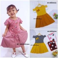 Dress Kanaya uk 4-5 Tahun / Dres Anak Perempuan Motif Baju Cewek