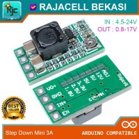Mini DC Step Down 3.3V 5V 3A Power Supply Buck Converter Adjustable