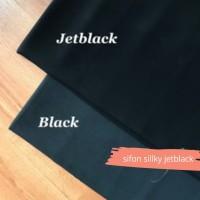 kain sifon silky jetblack/Original Chiffon silk arabic Leuwitex