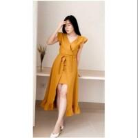 Dress Kanon Fashion Wanita Baju Casual Twiscone Model Artis Korea