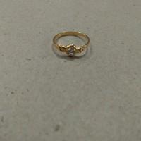 cincin mata putih pinggir ukir 1/2 gram emas muda